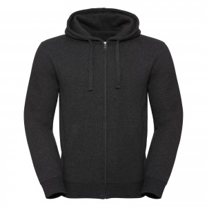 Męska bluza Authentic Melange Zipped Hooded Sweat R263M | Russell